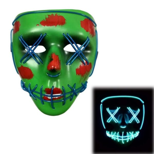 Drop Shipping Led Mask Purge Masks Halloween Party Masque Election Masks Light Glow In The Dark Mascar Halloween Horror Mask